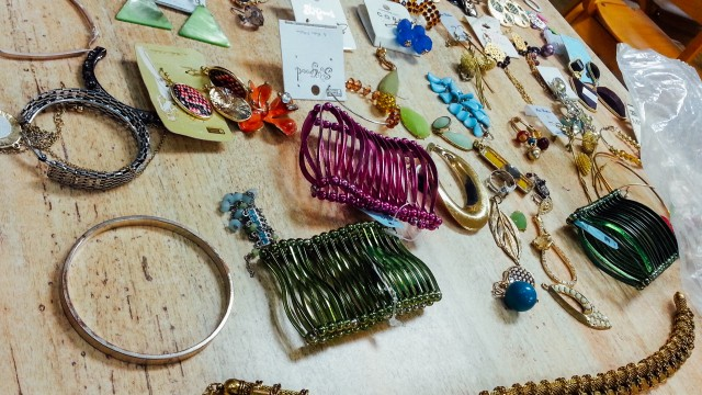 Jewelry donated to the Women's Free Homeless Clinic